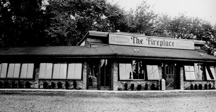 The Fireplace Restaurant opening summer 1956